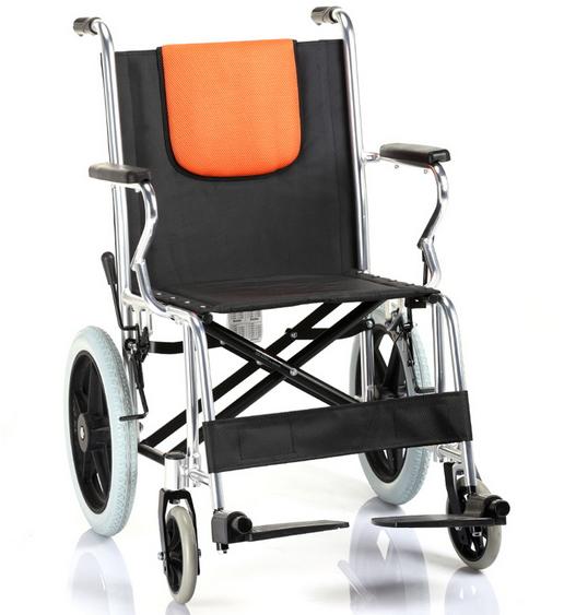 手动轮椅车(鱼跃)供行动不便的残疾人,病人及年老体弱者做代步工具.